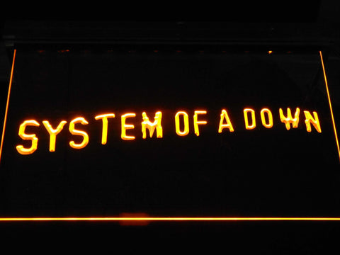 Image of System Of A Down Toxicity LED Neon Sign - Yellow - SafeSpecial