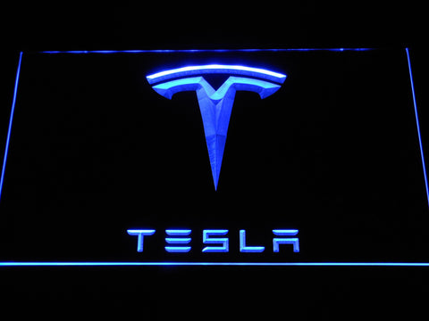 Image of Tesla LED Neon Sign - Blue - SafeSpecial