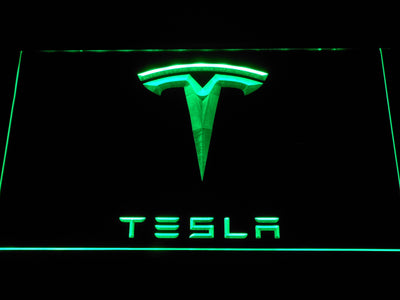 Tesla LED Neon Sign - Green - SafeSpecial