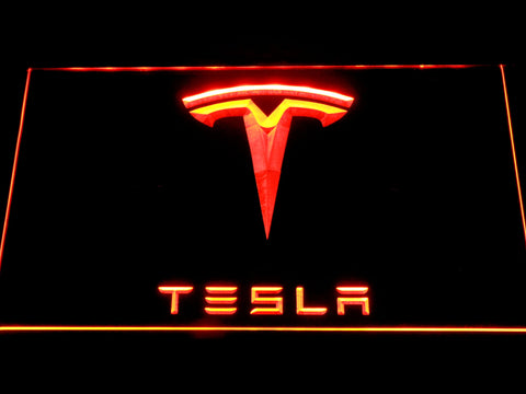 Tesla LED Neon Sign - Orange - SafeSpecial