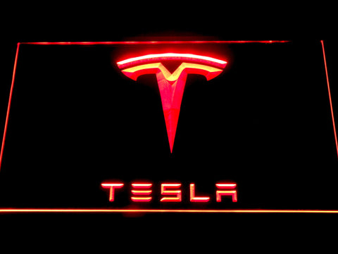 Tesla LED Neon Sign - Red - SafeSpecial