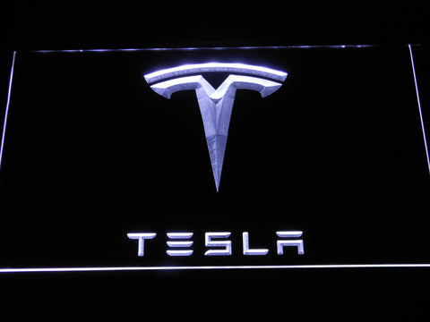 Image of Tesla LED Neon Sign - White - SafeSpecial