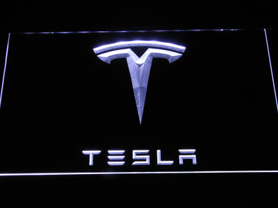 Tesla LED Neon Sign - White - SafeSpecial