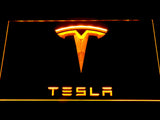 Tesla LED Neon Sign - Yellow - SafeSpecial