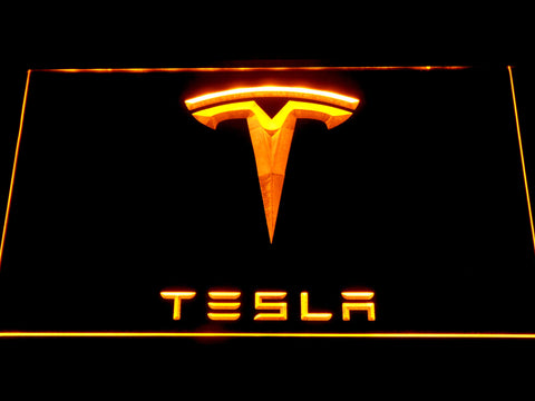 Image of Tesla LED Neon Sign - Yellow - SafeSpecial