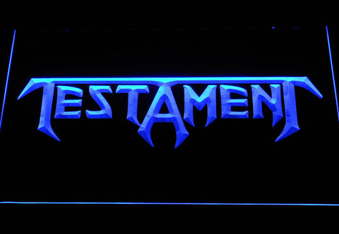 Image of Testament LED Neon Sign - Blue - SafeSpecial