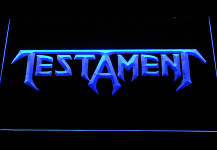 Testament LED Neon Sign - Blue - SafeSpecial