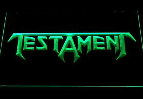 Image of Testament LED Neon Sign - Green - SafeSpecial
