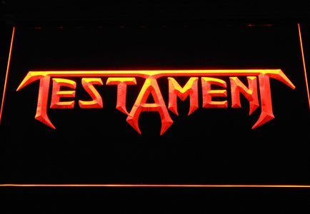 Testament LED Neon Sign - Orange - SafeSpecial