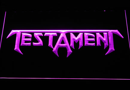 Testament LED Neon Sign - Purple - SafeSpecial