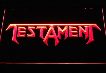 Testament LED Neon Sign - Red - SafeSpecial
