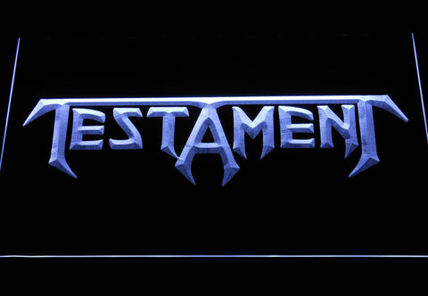 Image of Testament LED Neon Sign - White - SafeSpecial