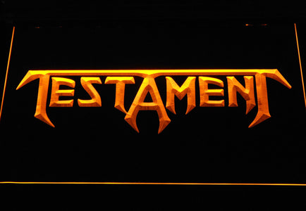 Testament LED Neon Sign - Yellow - SafeSpecial