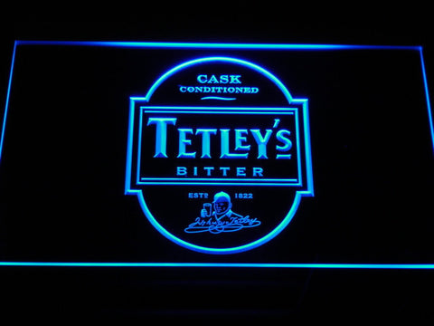 Image of Tetley's Bitter LED Neon Sign - Blue - SafeSpecial