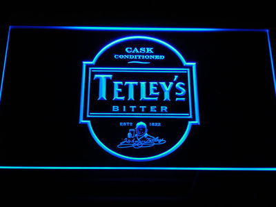 Tetley's Bitter LED Neon Sign - Blue - SafeSpecial