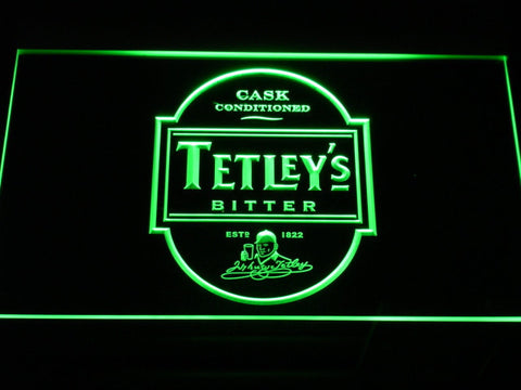 Image of Tetley's Bitter LED Neon Sign - Green - SafeSpecial