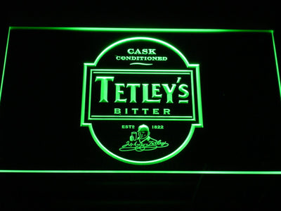 Tetley's Bitter LED Neon Sign - Green - SafeSpecial