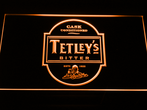 Image of Tetley's Bitter LED Neon Sign - Orange - SafeSpecial