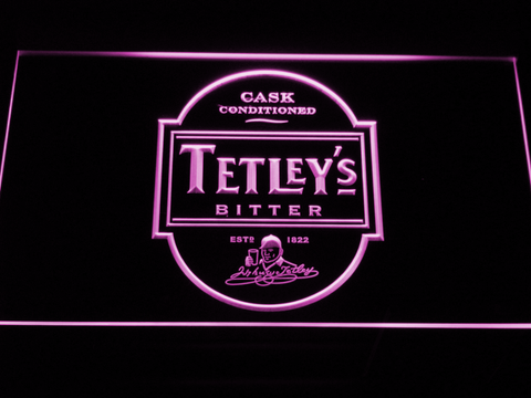 Image of Tetley's Bitter LED Neon Sign - Purple - SafeSpecial