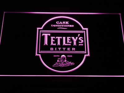 Tetley's Bitter LED Neon Sign - Purple - SafeSpecial