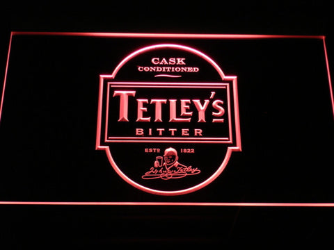 Image of Tetley's Bitter LED Neon Sign - Red - SafeSpecial