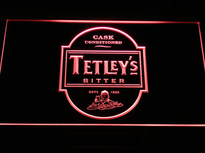 Tetley's Bitter LED Neon Sign - Red - SafeSpecial