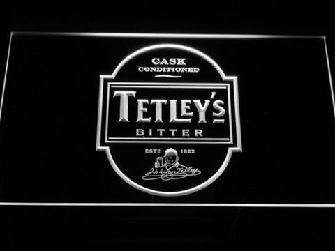 Image of Tetley's Bitter LED Neon Sign - White - SafeSpecial