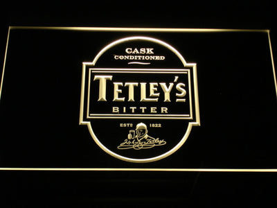 Tetley's Bitter LED Neon Sign - Yellow - SafeSpecial