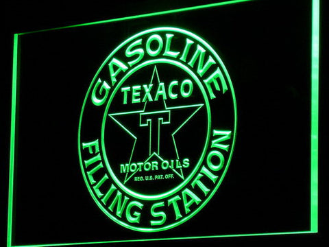 Texaco Gasoline Filling Station LED Neon Sign - Green - SafeSpecial