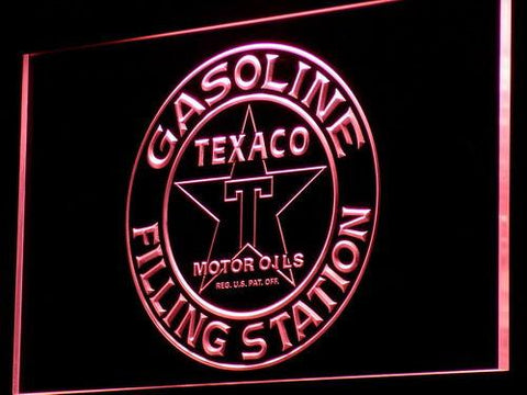 Texaco Gasoline Filling Station LED Neon Sign - Red - SafeSpecial