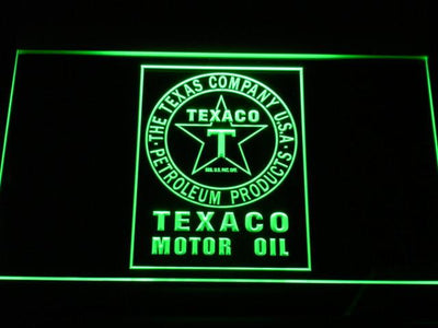 Texaco Motor Oil LED Neon Sign - Green - SafeSpecial