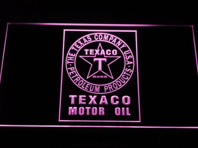 Texaco Motor Oil LED Neon Sign - Purple - SafeSpecial