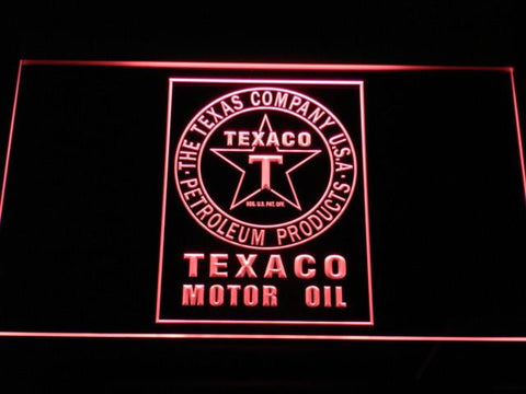 Texaco Motor Oil LED Neon Sign - Red - SafeSpecial