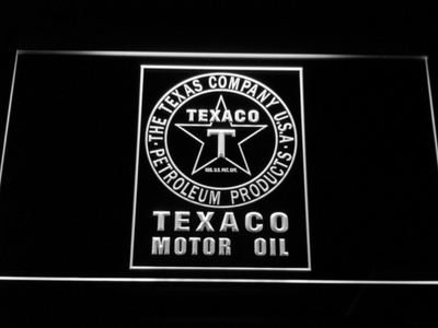 Texaco Motor Oil LED Neon Sign - White - SafeSpecial