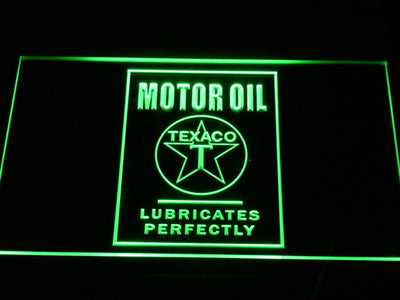 Texaco Motor Oil - Lubricates Perfectly LED Neon Sign - Green - SafeSpecial