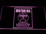 Texaco Motor Oil - Lubricates Perfectly LED Neon Sign - Purple - SafeSpecial