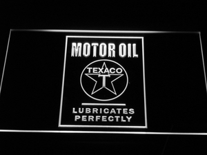 Texaco Motor Oil - Lubricates Perfectly LED Neon Sign - White - SafeSpecial