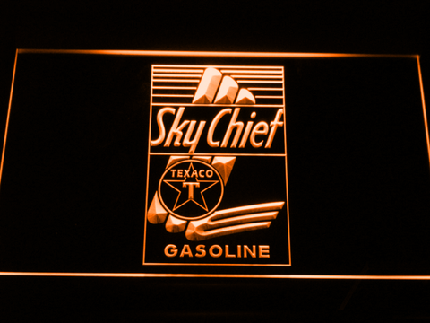 Texaco Sky Chief LED Neon Sign - Orange - SafeSpecial