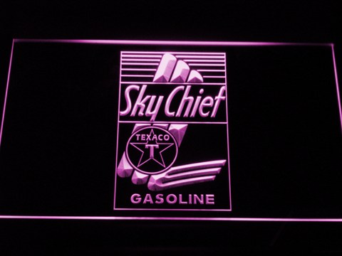 Texaco Sky Chief LED Neon Sign - Purple - SafeSpecial