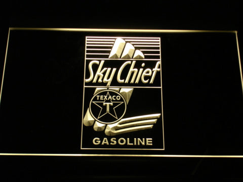 Texaco Sky Chief LED Neon Sign - Yellow - SafeSpecial