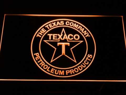 Texaco The Texas Company LED Neon Sign - Orange - SafeSpecial