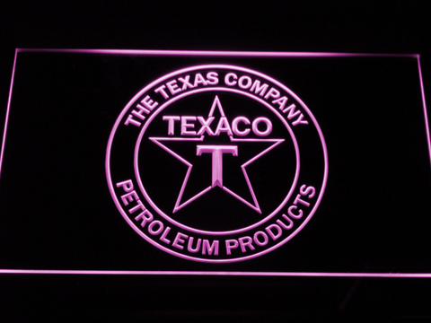 Texaco The Texas Company LED Neon Sign - Purple - SafeSpecial