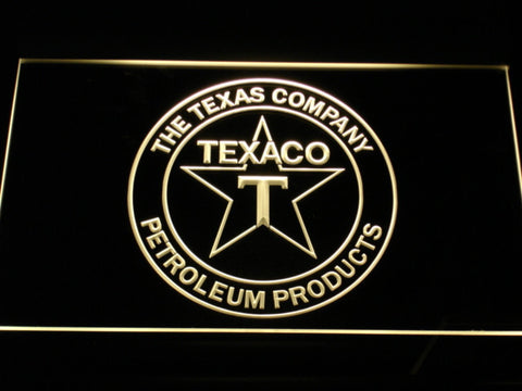 Texaco The Texas Company LED Neon Sign - Yellow - SafeSpecial