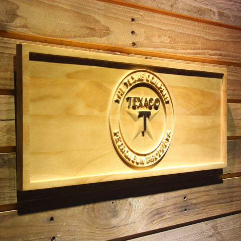 Image of Texaco The Texas Company Wooden Sign - - SafeSpecial