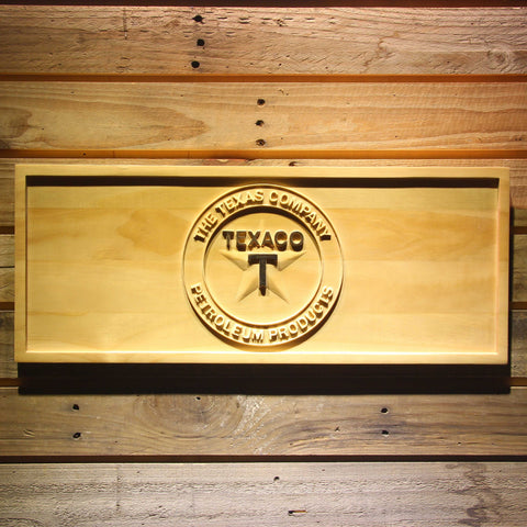 Image of Texaco The Texas Company Wooden Sign - Small - SafeSpecial