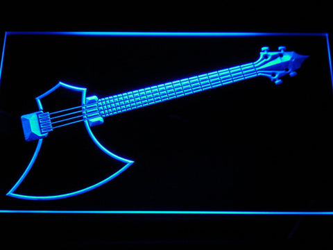 The Axe Bass LED Neon Sign - Blue - SafeSpecial