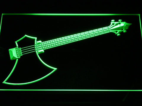 The Axe Bass LED Neon Sign - Green - SafeSpecial