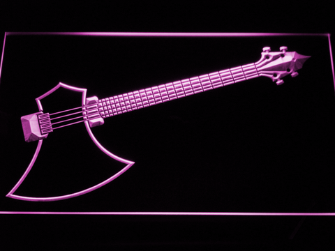 Image of The Axe Bass LED Neon Sign - Purple - SafeSpecial