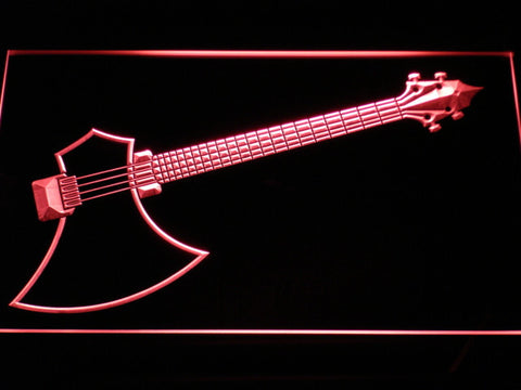 The Axe Bass LED Neon Sign - Red - SafeSpecial