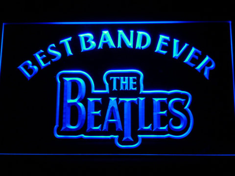 The Beatles Best Band Ever LED Neon Sign - Blue - SafeSpecial